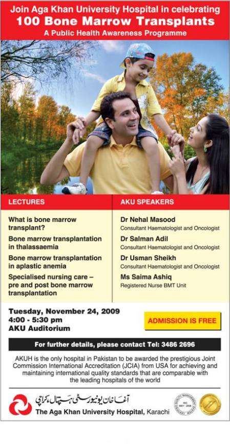 Celebrating 100 Bone Marrow Transplants - Tuesday, November 24, 2009