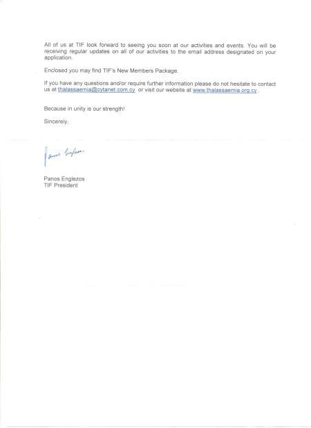 FAiTh Membership in Thalassemia International Federation